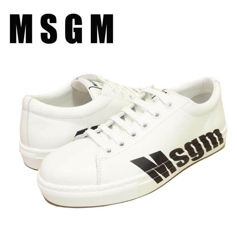 【あす楽】MSGM CUPSOLE SNEAKERS / スニーカー / シューズ / レザー スニーカー / 靴 / レディース / WRAP LOW-CUT CUPSOLE / 2641MDS102 100 99