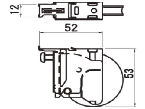 【メール便選択可】 サッシ戸車 トステム(トーヨーサッシ) NRP965【メーカー取り寄せ品】
