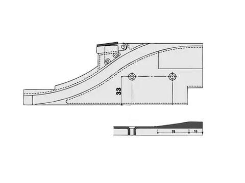 下枠ガイド 引違い窓用 不二サッシ ビル用 HA2703SL/R 【メーカー取り寄せ品】