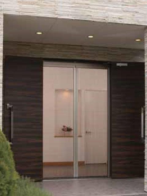 【送料無料・法人様限定】 玄関網戸 アルマーデフリー 両引きタイプ 【~W2400×~H2380】