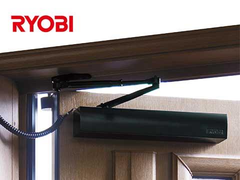 特価 左右兼用【メーカー取り寄せ品】:網戸サッシ部品窓の専門店 パラレル取付 RYOBI (リョービ)ラクアド RUCAD ドア開閉装置RU-010P-木材・建築資材・設備