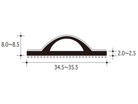 スライドピンチブロック 【ピンチブロック】 【メーカー取り寄せ品】 #26-CS 【両面テープ付 2メートル】