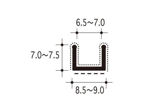 【両面テープ付 2メートル】 【メーカー取り寄せ品】 #26-CS 【ピンチブロック】 スライドピンチブロック