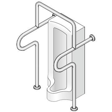 【38】小便器トイレ用手摺 神栄ホームクリエイト 新協和 SK-201S 【メーカー取り寄せ品】