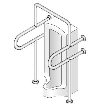 【32・34】小便器トイレ用手摺 神栄ホームクリエイト 新協和 SK-207S 【メーカー取り寄せ品】