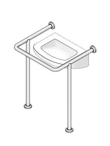 【38】洗面・手洗器用手摺 神栄ホームクリエイト 新協和 SK-252S 【メーカー取り寄せ品】
