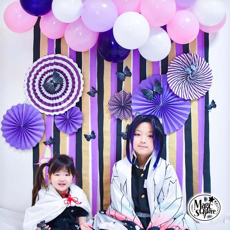 この1セットがあれば飾りつけは完璧 素敵な記念写真も撮れる 送料無料 日本産 こちょうフォトブース フォトブース デコレ クレープストリーマー かわいい オシャレ バースデー 風船 ガーランド マカロン 飾り付け 男の子 1歳 飾り 2歳 税込 パーティー 女の子 お祝い