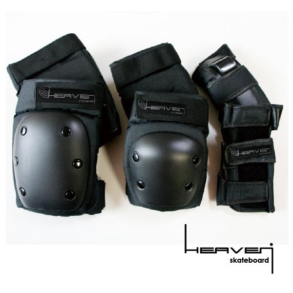 ヒザ ヒジ 『1年保証』 手首の左右セット 怪我の予防に HEAVEN ヘブン 膝 プロテクト抜群 防具 スケートプロテクター3点セットプロテクター 肘 公式ショップ 手首