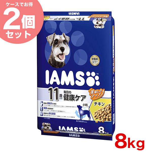 【お得な2個セット】[アイムス]IAMS 11歳以上用 毎日の健康ケア チキン 小粒 8kg/ 猫 キャットフード ドライ 20908883