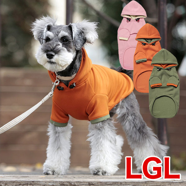 犬と生活 Rパーカー(超撥水レインパーカー) LGL カーキ (犬用レインコート 散歩 アクティブ 雨) #w-090065-09
