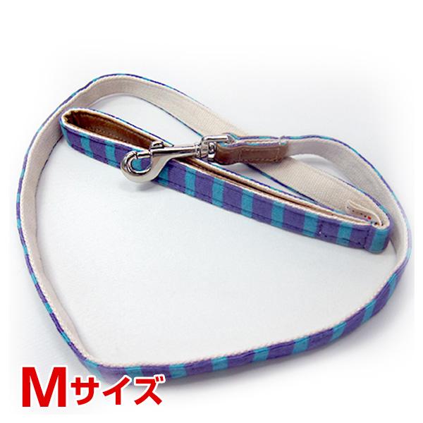 ワールド商事 ニットボーダーリード パープル×ブルー M 4527141604844 #w-149308