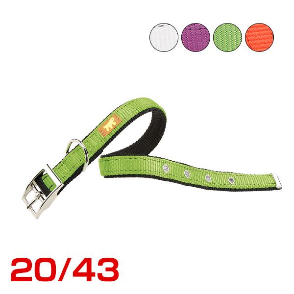 ファープラスト デュアル CF20/43 COLOURS ホワイト 犬 首輪 8010690127217 #w-150625-00-01