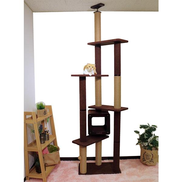 [キャティーマン]CattyMan モダンルームスクラッチ キャットタワー タワーダブル / キャットタワー 爪とぎ 4976555841800 #w-151577【大型商品のため同梱不可】