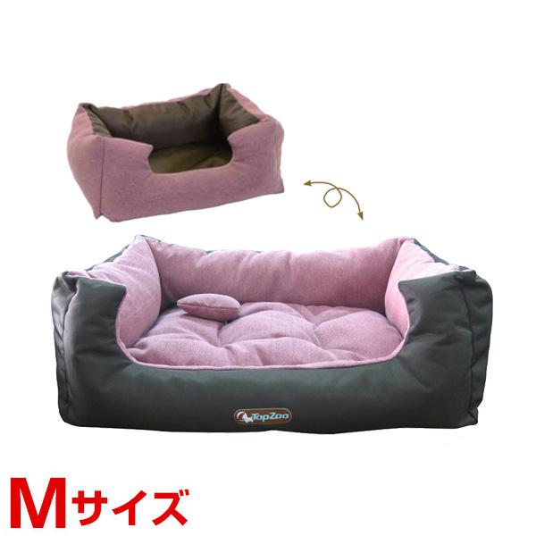 [トップズー]TopZoo ドゥドゥコージーキャンバス ピンク クッションベッド M 3760173584550 #w-151673