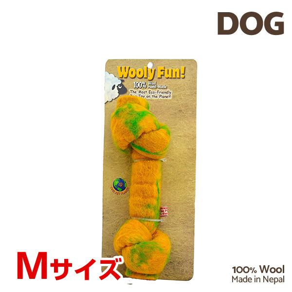 【あす楽】[ウーリーファン]Wooly Fun!! KNOTTED BONES 6.5 イエロー Mサイズ ウール おもちゃ 犬用 コスゲ 734663850145 w-154238-00-00