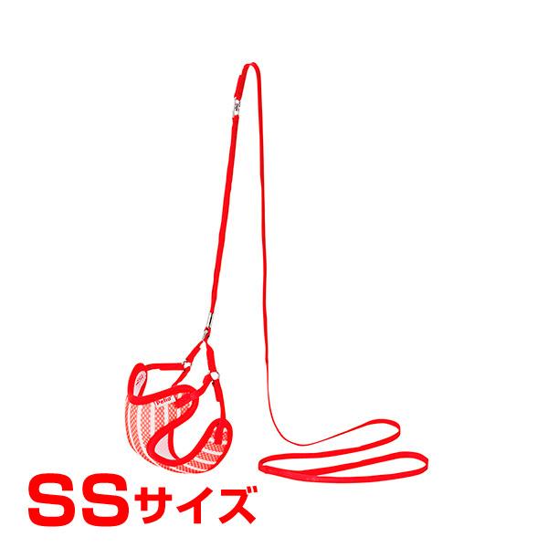 [ペティオ]Petio ARFashion ストライプ ベスト ハーネスリード SS レッド 4903588554223 #w-154930-00-00 犬用品 リード・ハーネス・首輪