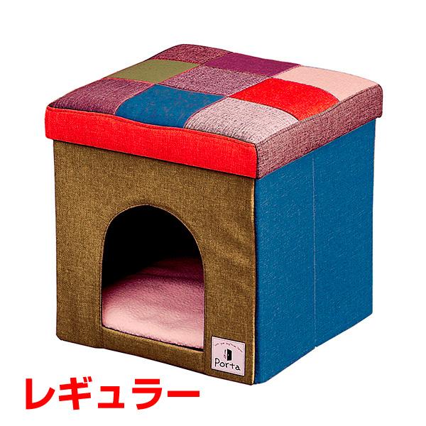 [ペティオ]Petio Porta ドッグハウス&スツール モザイク ワイド 4903588222788 #w-154995-00-00 犬用品 家具 犬小屋・犬舎