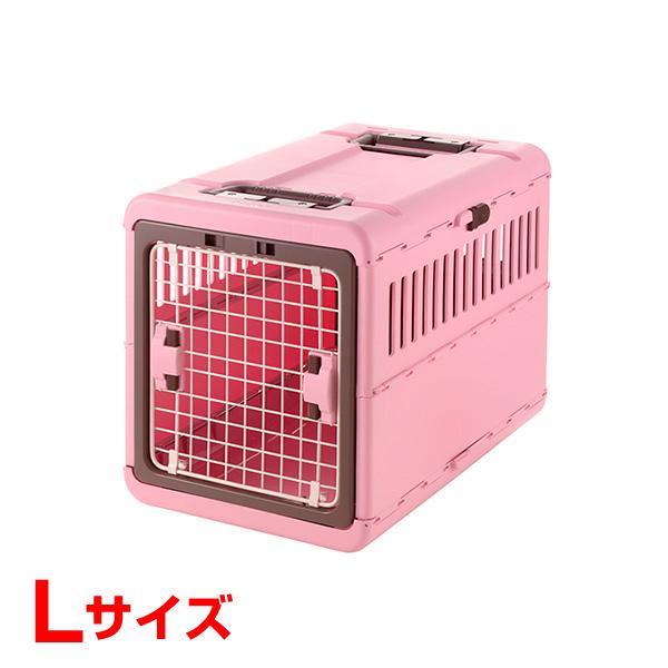 [リッチェル]Richell キャンピングキャリー折りたたみ ライトピンク Lサイズ 犬 猫 おでかけ 通院 避難 4973655599372 #w-155544-00-00 防災セット