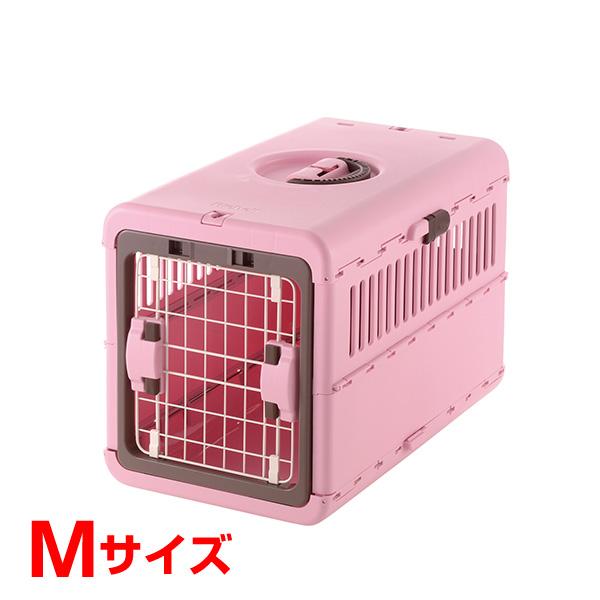 [リッチェル]Richell キャンピングキャリー折りたたみ ライトピンク Mサイズ 犬 猫 おでかけ 通院 避難 4973655599341 #w-155547-00-00 防災セット