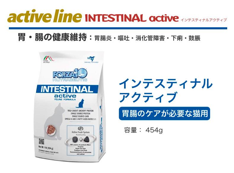 FORZA10[フォルツァ10] インテスティナル アクティブ 454g 胃腸の健康 / Active INTESTINAL/ 成猫用 ドライフード キャットフード 猫用 8020245706316【FZ3】