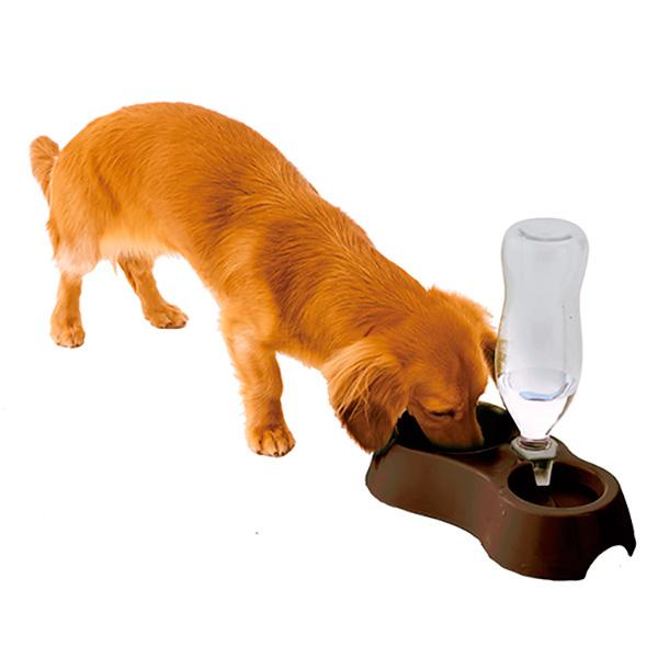 安心の正規品 ペティオ 入手困難 Petio 給水機能付きWディッシュ ブラウン 食器 犬 #w-155832-00-00 輸入 4903588255984 pm