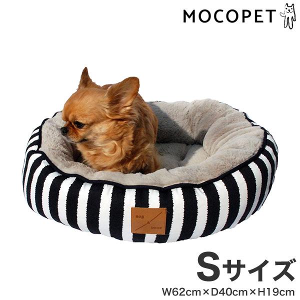 mog&bone 4シーズンズ リバーシブル丸型ベッド Sサイズ ネイビーハンプトン / 猫 犬 ベッド 0797776306947 #w-157805-00-00