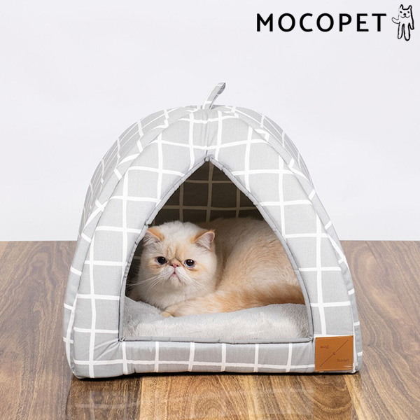 mog&bone イグルー Sサイズ グレーチェック / 猫 ベッド ドーム型 0797776310418 #w-157812-00-00