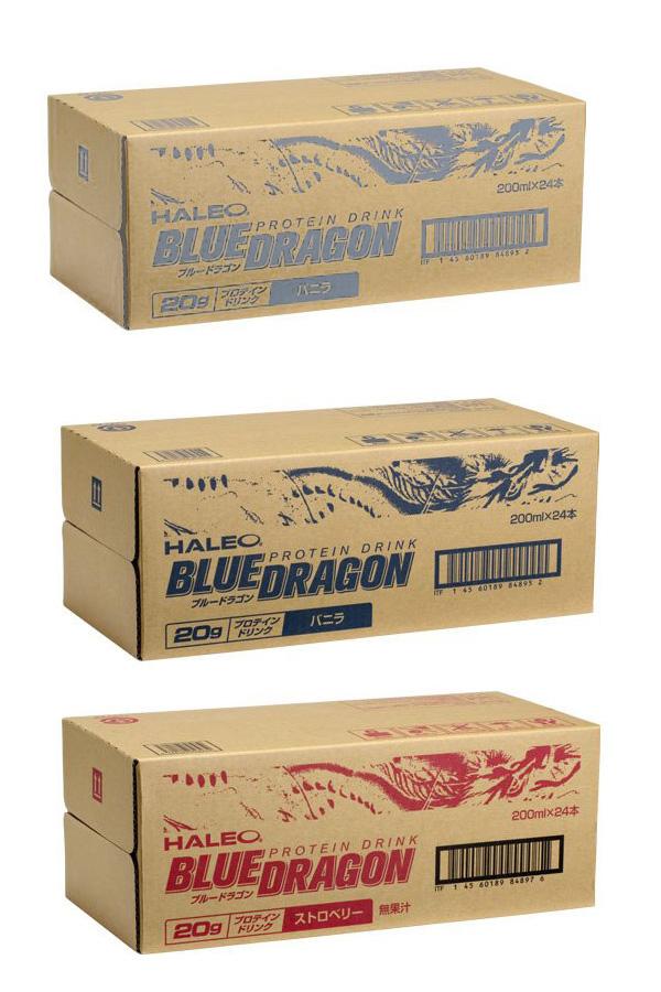 HALEO BLUE DRAGON(好天气of汤汁龙)蛋白质饮料200ml x 24条装(香草味道,罢工浆果味道)