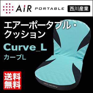 西川産業 エアーポータブル クッション Curve_L カーブL【送料無料】