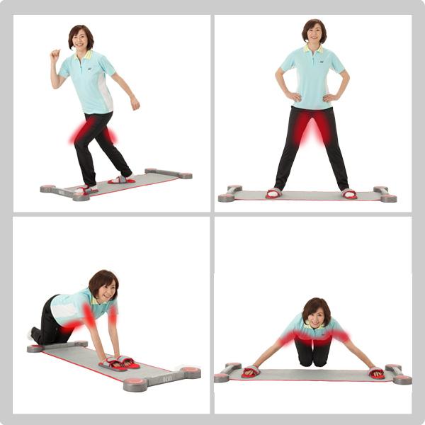 Skating shape workout DVD with slide Board Tokyu sports OASIS