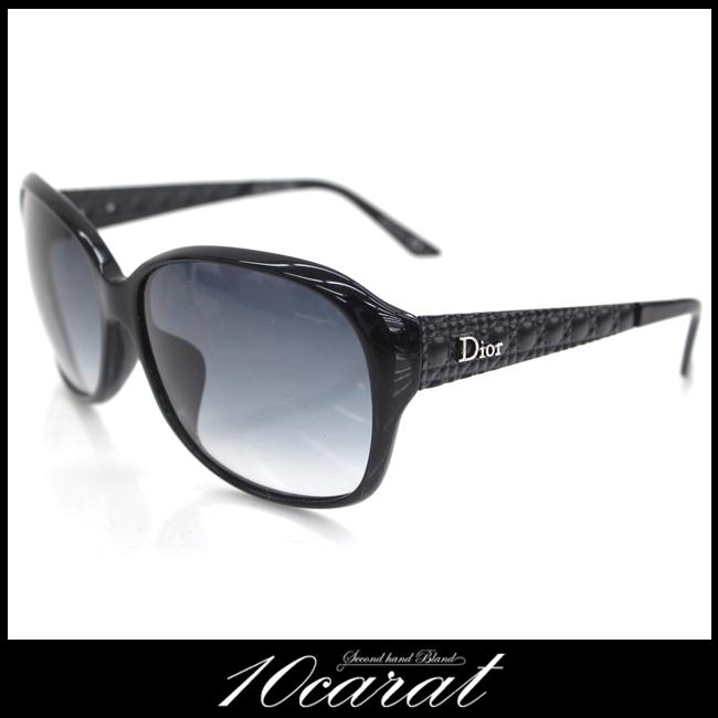 【美品】【Dior】ディオール サングラス レディース ブラック スモーク付き【中古】