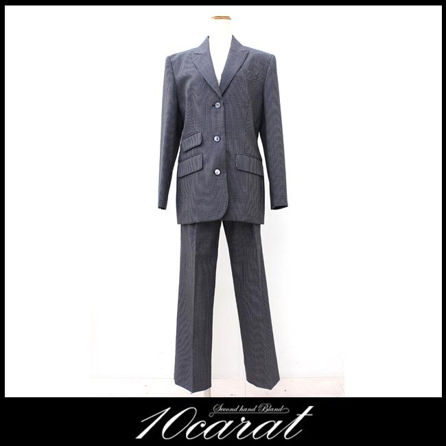 【GIVENCHY】ジバンシー レディースパンツスーツ Lサイズ ストライプ【中古】