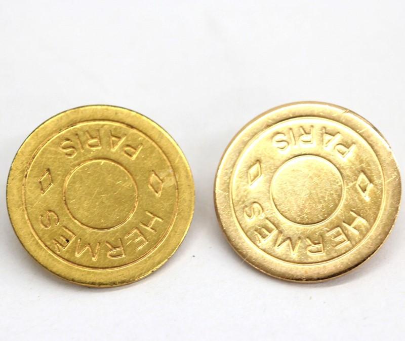 HERMES エルメス イヤリング セリエ オンラインショッピング 中古 メッキ コイン ◆在庫限り◆ ゴールド