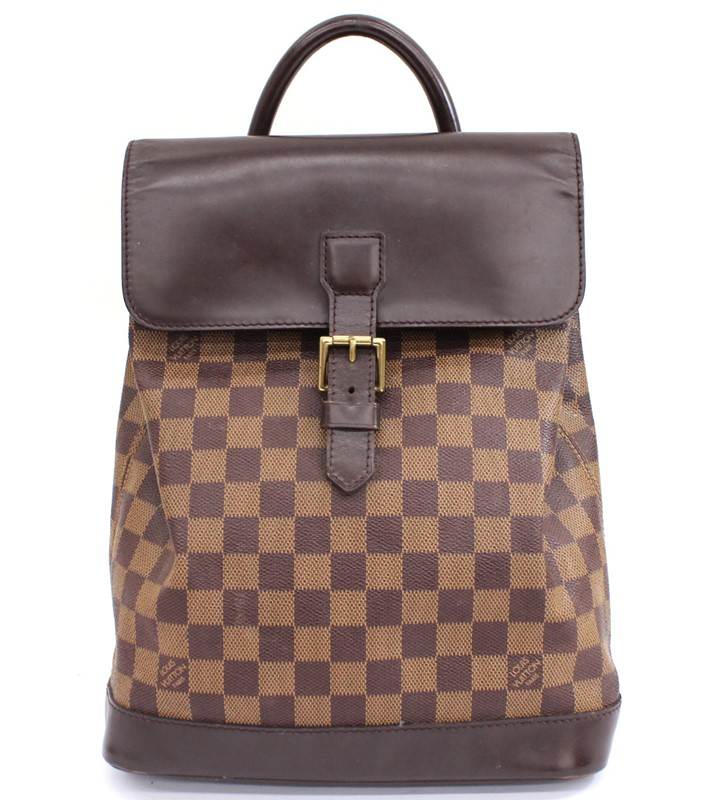 【LOUIS VUITTON】ルイヴィトン ダミエ ソーホー エベヌ リュックサック バックパック 男女兼用 ユニセックス N51132【中古】