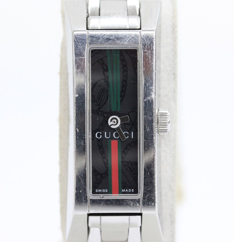 GUCCI グッチレディース クォーツ 電池 初回限定 おすすめ ブラック文字盤 時計 中古 110