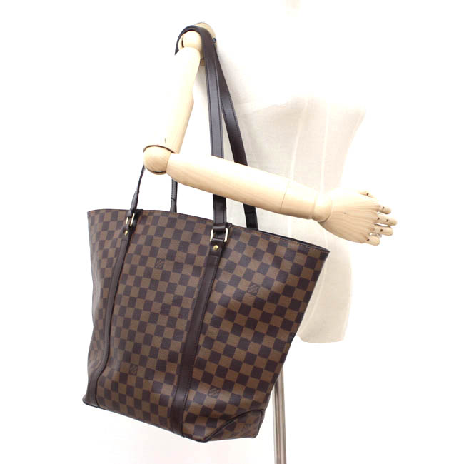 【LOUIS VUITTON】ルイヴィトン ダミエ サック・ショッピング レア物 希少【中古】