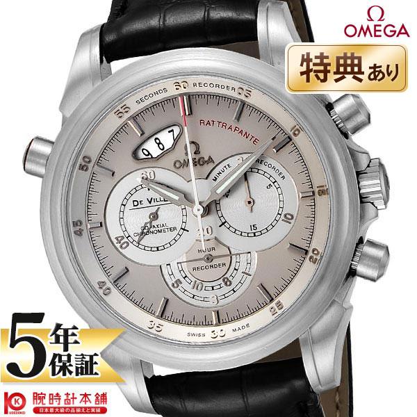 【ショッピングローン24回金利0%】オメガ デビル OMEGA クロノグラフ スケルトンバック シルバー 422.53.44.51.02.001 [海外輸入品] メンズ 腕時計 時計