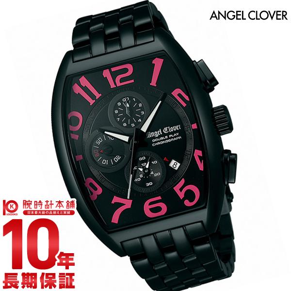 【店内最大37倍!28日23:59まで】エンジェルクローバー 時計 AngelClover ダブルプレイ ブラック/ピンク デイト クロノグラフ DP38BBP [正規品] メンズ 腕時計