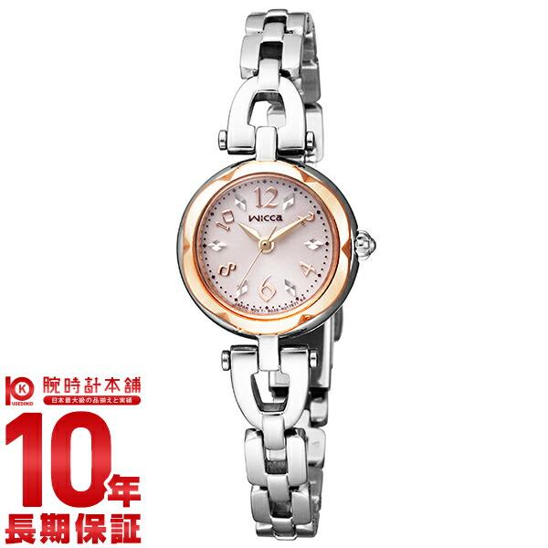 シチズンウィッカ KF2-510-11 Lady's watch solar technical center BANGLE Citizen wicca #106604