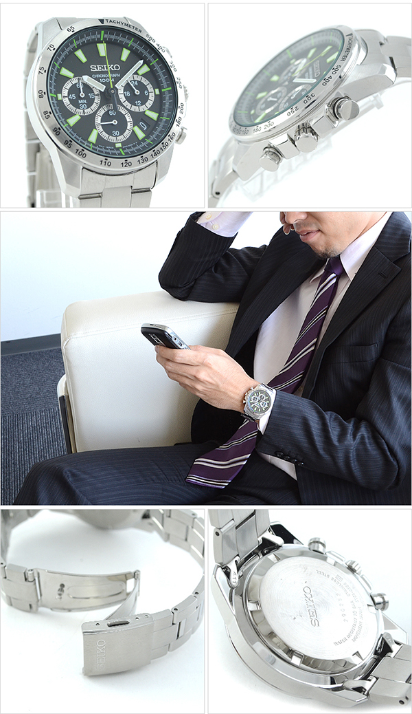 Seiko men's for the chronograph SSB027PC watch #108058