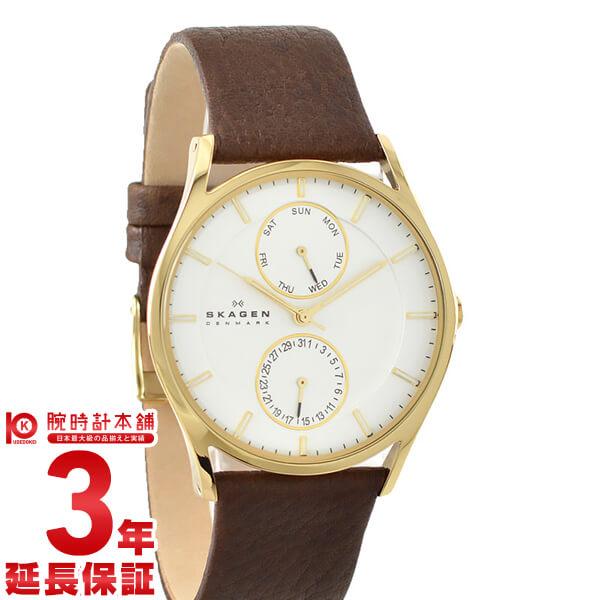スカーゲン メンズ SKAGEN ホワイト×ゴールド SKW6066 [海外輸入品] 腕時計 時計
