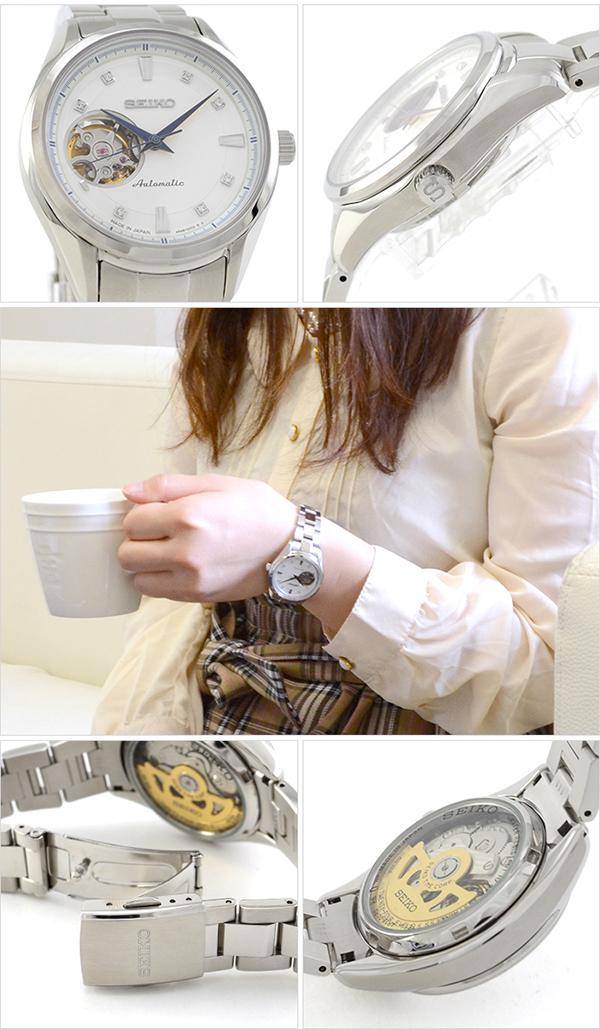 세이 코 プレザージュ SEIKO PRESAGE SRRY009 여성용 시계 화이트 # 111522