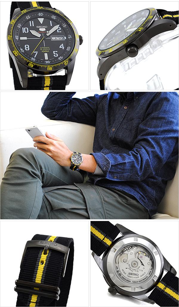 세이코 5 역수입 모델 SEIKO5 100 m방수 기계식(자동감김) SRP523K1 [해외 수입품]맨즈 손목시계 시계