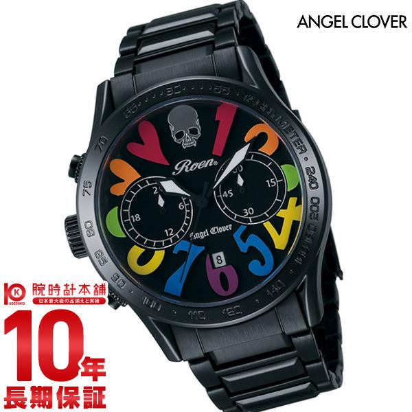 【24回金利0%】エンジェルクローバー 時計 AngelClover ロエンコラボレーション ブラック ステンレスベルト クロノグラフ デイト LC42ROBBRB [正規品] メンズ 腕時計