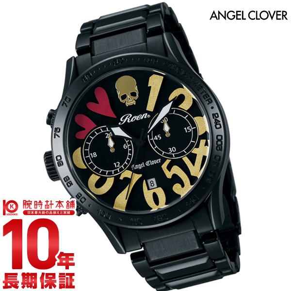 【ポイント最大24倍!9日20時より】【24回金利0%】エンジェルクローバー 時計 AngelClover ロエンコラボレーション ブラック クロノグラフ デイト LC42ROBBGD 正規品 メンズ 腕時計【あす楽】