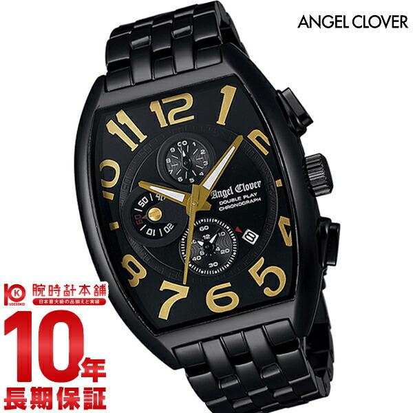 エンジェルクローバー 時計 AngelClover ダブルプレイ ブラック ステンレスクロノグラフ デイト DP38BBG [正規品] メンズ 腕時計【あす楽】