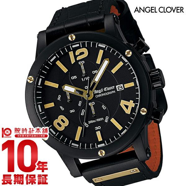 エンジェルクローバー 時計 AngelClover エクスベンチャー ブラック ステンレスクロノグラフ デイト EVC46BBK-BK [正規品] メンズ 腕時計