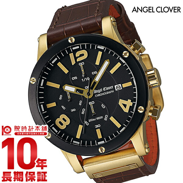 エンジェルクローバー 時計 AngelClover エクスベンチャー ブラック ステンレス クロノグラフ デイト EVC46YBK-BW [正規品] メンズ 腕時計