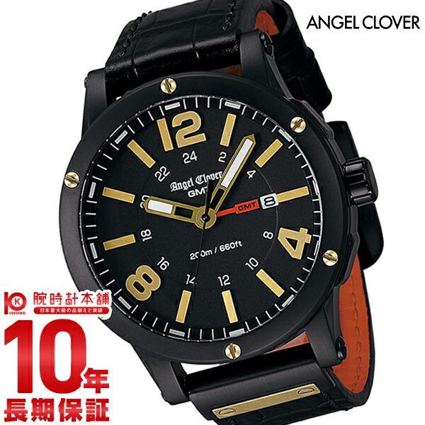 エンジェルクローバー 時計 AngelClover エクスベンチャー ブラック ステンレス GMT機能 デイト EVG46BBK-BK [正規品] メンズ 腕時計