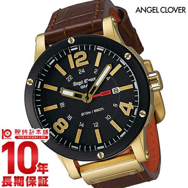 エンジェルクローバー 時計 AngelClover エクスベンチャー ブラック ステンレスGMT機能 デイト EVG46YBK-BW [正規品] メンズ 腕時計